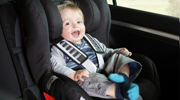 happy baby in car seat!