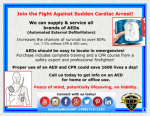 Proper use of an AED and CPR could save an additional 1600 lives per day!
