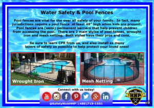 Pool fences save lives, learn more inside!