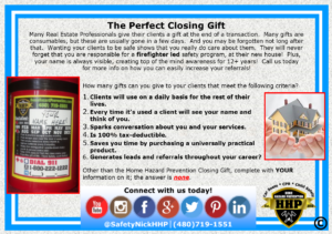 The perfect closing gift for Real Estate professionals.