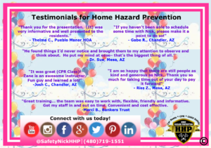 Testimonials for Home Hazard Prevention