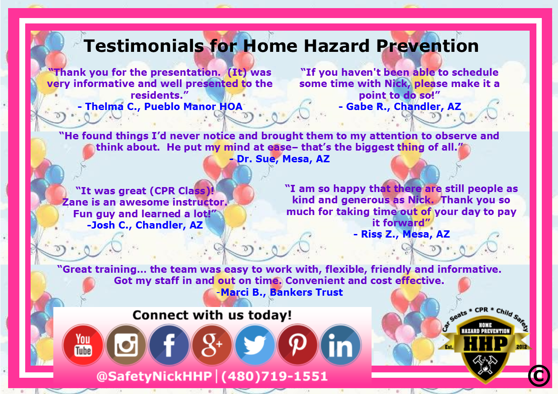 Testimonials For Home Hazard Prevention Llc