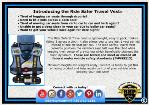 Travel Vests are safe, cheap, lightweight, convenient, and LEGAL in all 50 states!