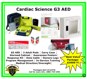 Cardiac Science G3 Portable Defibrillator (AED) is the workhorse of the AED world