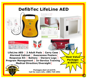 The DefibTech LifeLine is a great AED that is more than capable of saving a life.