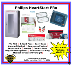 The Philips HeartStart FRx is an extremely durable AED, with an IPX of 2.1