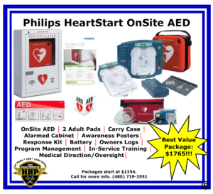 The Philips HeartStart OnSite AED is an extremely popular AED.