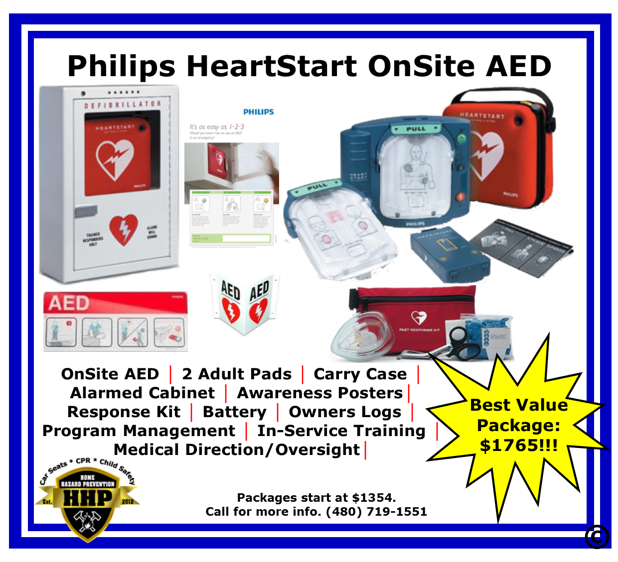 Philips OnSite AED $1354 From HHP (480) 719-1551