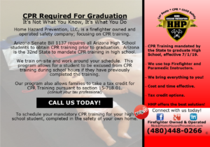 CPR Required For Arizona Students. Call @SafetyNick (480) 448-0266