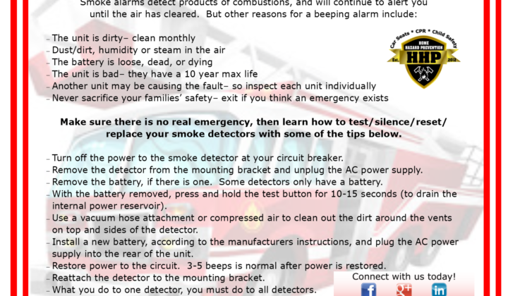 Fire Extinguisher Safety & Smoke Detector Maintenance