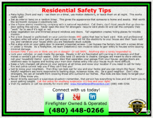 Residential Safety Tips