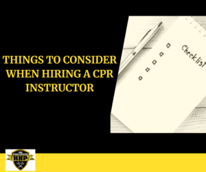 Things to Consider When Hiring CPR Instructor