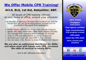 We Offer Mobile CPR Training!
